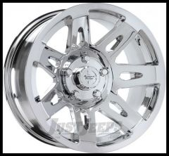"Rugged Ridge 17x9 XHD Wheel Polished Chrome With 5"" X 5 Bolt Pattern & -12mm Offset 15301.20"