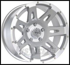 "Rugged Ridge 17x9 XHD Wheel Silver With 5"" X 5 Bolt Pattern & -12mm Offset 15301.40"