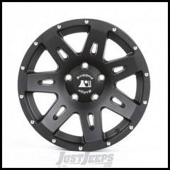 "Rugged Ridge 17x8.5 XHD Wheel Satin Black With 5"" X 5 Bolt Pattern & +10mm Offset 15301.60"