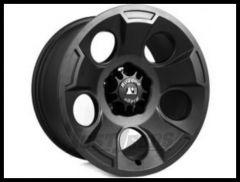 Rugged Ridge 17x9 Drakon Wheel (Satin Black) For 2007-18+ Jeep Wrangler JK/JL 2 Door & Unlimited 4 Door Models 15302.01
