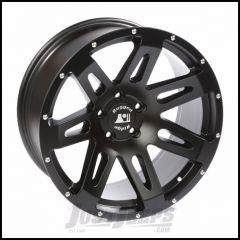 "Rugged Ridge 20"" X 9"" Aluminum Black Satin XHD Wheel  With 5"" X 5 Bolt Pattern & -15mm Offset 15306.01"