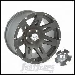"Rugged Ridge 17x9 XHD Wheel Stain Black  With 5"" X 5 Bolt Pattern & -12mm Offset 15311.01"