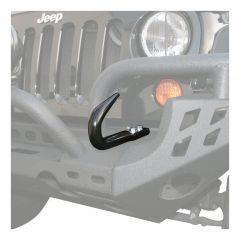 Aries Automotive Modular Bumper Tow Hook In Gloss Black For 2007-18 Jeep Wrangler JK 2 Door & Unlimited 4 Door Models 15600TW