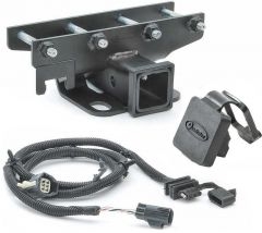 "Quadratec Premium 2"" Hitch with Wiring Kit & Quadratec Logo Plug for 07-18 Jeep Wrangler JK, JKU 12015.1020"