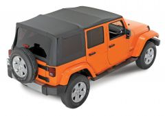 QuadraTop Replacement Soft Top with Tinted Windows in Black Diamond for 07-18 Jeep Wrangler Unlimited JK 4 Door 11000JKU-