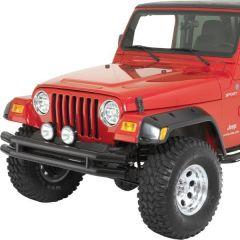 Quadratec QR3 Dual-Tube Front Bumper for 76-06 Jeep CJ, YJ, TJ & Unlimited 12061DT-
