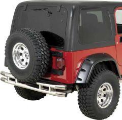 Quadratec QR3 Dual-Tube Rear Bumper for 87-06 Jeep Wrangler YJ, TJ & Unlimited 12063-