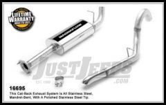 Magnaflow Performance Stainless Steel Cat Back Exhaust System For 2004-06 Jeep Wrangler TJ Umlimited With 4.0L 16695