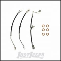 Omix-ADA Front & Rear Brake Hose Kit With Copper Washers For 1997-06 Jeep Wrangler TJ 16733.64