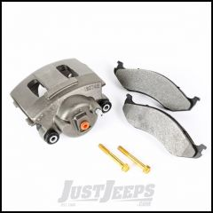 Omix-ADA Driver Side Front Brake Caliper For 1987-06 Jeep Wrangler YJ, TJ Models, 1990-01 Jeep Cherokee XJ, 1990-92 Comanche, 1990 Grand Wagoneer & 1993-98 Grand Cherokee ZJ 16745.17