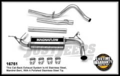 Magnaflow Performance Stainless Steel Cat Back Exhaust System For 2007-11 Jeep Wrangler JK Unlimited 4 Door With 3.8L 16751
