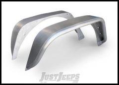 Poison Spyder Rear Crusher Flares - Standard Width For 2007-18 Jeep Wrangler JK 2 Door & Unlimited 4 Door Models (Bare Aluminum) 17-05-010-ALUM