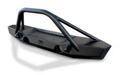 Poison Spyder Brawler Lite Front Midwidth Bumper with Brawler Bar and Tube Gussets (Black) for 2007-2018 Jeep Wrangler JK, JKU 17-63-010DBTP1