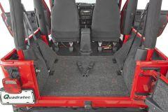 Bedrug Premium Carpeted Rear Floor Covering for 97-02 Jeep Wrangler TJ BRTJ97QR