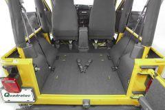 Bedrug BedTred Premium Molded Rear Floor Covering for 97-02 Jeep Wrangler TJ BTTJ97QR