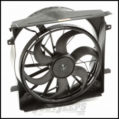 Omix-ADA Radiator Fan Assembly For 2002-07 Jeep Liberty With 2 Pin Connectors 17102.61