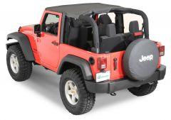QuadraTop Bimini Top in Black Diamond for 07-18 Jeep Wrangler JK 2 Door 11022.2435