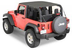 QuadraTop Bimini Top Plus in Black Diamond for 07-18 Jeep Wrangler JK 2 Door 11022.2735