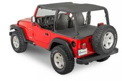 QuadraTop Tonno Cover in Black Diamond for 03-06 Jeep Wrangler TJ with Factory Soft Top 11051.3315