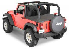 QuadraTop Tonno Cover in Black Diamond for 07-18 Jeep Wrangler JK 2 Door 11051-