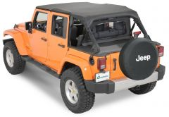 QuadraTop Tonno Cover in Black Diamond for 07-18 Jeep Wrangler Unlimited JK 4 Door 11051TJKU-