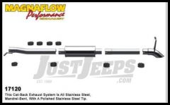 Magnaflow Performance Stainless Steel Cat Back Exhaust System For 2007-11 Jeep Wrangler JK Unlimited 4 Door With 3.8L 17120