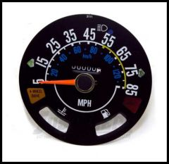 Omix-ADA Speedometer Head For 1980-86 CJ Series OE Style Guages not included 5-85 Miles 17207.03