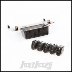 Rugged Ridge Lower Switch Panel Kit For 2011-18 Jeep Wrangler JK 2 Door & Unlimited 4 Door Auto Transmission Models With Five Etched Rocker Switches 17235.73