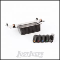 Rugged Ridge Lower Switch Panel Kit For 2011-18 Jeep Wrangler JK 2 Door & Unlimited 4 Door Models With Four Rocker Switches & Dual USB Connector 17235.84