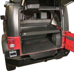 Tuffy Products Deluxe Security Deck Enclosure In Black Steel Finish For 2007-10 Jeep Wrangler JK 2 Door & Unlimited 4 Door Models 173-01