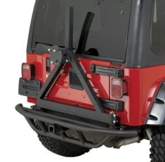 Quadratec QRC Rear Bumper with Tire Carrier for 87-06 Jeep Wrangler YJ, TJ & Unlimited 12057.0322