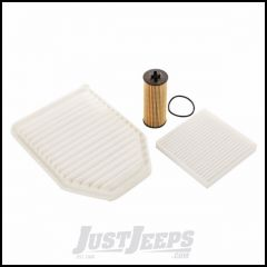Omix-ADA Oil, Air & Cabin Filter Kit For 2012-13 Jeep Wrangler JK 2 Door & Unlimited 4 Door Models With 3.6L Engines 17436.41