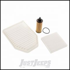 Omix-ADA Oil, Air & Cabin Filter Kit For 2014-18 Jeep Wrangler JK 2 Door & Unlimited 4 Door Models With 3.6L Engines 17436.42