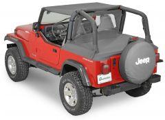 QuadraTop Bimini, Clearview Windstopper & Tonno Cover Combo in Black Denim for 87-91 Jeep Wrangler YJ 11022.9000