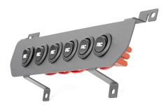 Rough Country MLC-6 Multiple Light Controller Lower Dash Kit For 2018+ Jeep Gladiator JT & Wrangler JL 2 Door & Unlimited 4 Door Models 70964