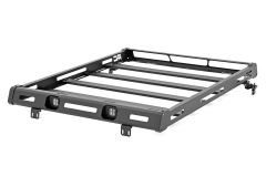 Rough Country Roof Rack System w/ LED Lights For 2018+ Jeep Wrangler JL 2 Door & Unlimited 4 Door Models 10622