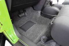 Bedrug Premium Carpeted Front Floor Covering for 07-18 Jeep Wrangler JK 2 Door BRJK11-