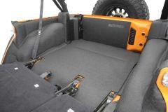 Bedrug BedTred Premium Molded Rear Floor Covering for 07-18 Jeep Wrangler Unlimited JK 4 Door BTJK11-
