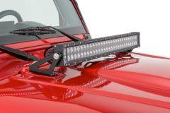 KC HiLiTES Hood Mount C30 LED Bar & Bracket System For 2007+ Jeep Wrangler JK & Wrangler Unlimited JK 367