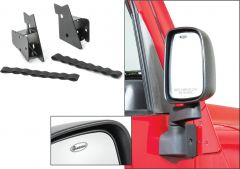 Quadratec Replacement Mirrors & Relocation Brackets for 97-06 Jeep Wrangler TJ & Unlimited 13111.0329