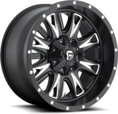 Fuel Off-Road Throttle Wheel in Matte Black with Machined Accents 17x9 with 5.0in Backspacing D51317902650