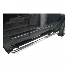"""Aries Automotive 3"""" Round Side Bars In Stainless Steel For 2008-12 Jeep Liberty KK Models 201005-2"""