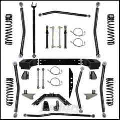 "Rock Krawler 2.5"" X Factor Long Arm System w/ 6"" Rear Stretch Lift Kit For 2007-18 Jeep Wrangler JK 2 Door Models JK25XFLA-6S"