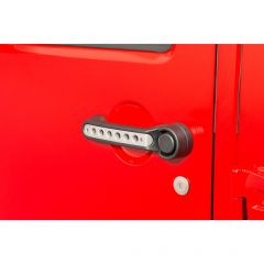DV8 Brushed Aluminum Door Handle Insert Kit For 2007-18 Jeep Wrangler JK Unlimited 4 Door Models D-JP-190015-AL-5