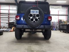 Trail Head Customs Rear Bumper (Black Rhino Liner) For 2018+ Jeep Wrangler JL 2 Door & Unlimited 4 Door Models JTRB-BLKR