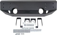 Off Camber Fabrications Front Stubby Bumper LINE-X Coated for 07-18 Jeep Wrangler JK, JKU 11094LX