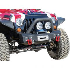 Off Camber Fabrications Front Stubby Bumper Package LINE-X for 07-18 Jeep Wrangler JK, JKU 131176LX