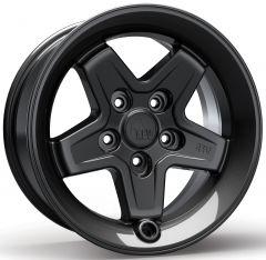 AEV Pintler Wheels 17 x 8.5 Onyx Wheel For 2007-18 Jeep Wrangler JK 2 Door & Unlimited 4 Door +10mm offset 20402023AC