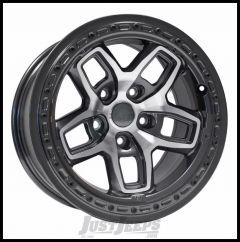 AEV Borah Wheels 17 x 8.5 Onyx Black/Machined Wheel For 2007-18 Jeep Wrangler JK 2 Door & Unlimited 4 Door 20402025AA