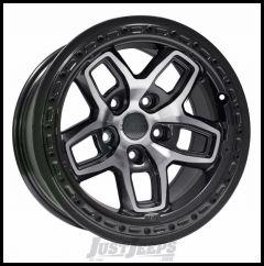 AEV Borah Wheels 17 x 8.5 Galaxy Black/Machined Wheel For 2007-18 Jeep Wrangler JK 2 Door & Unlimited 4 Door Models 20402029AA